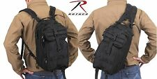 Black Rothco Convertible Medium Transport MOLLE Backpack & Single Sling Pack