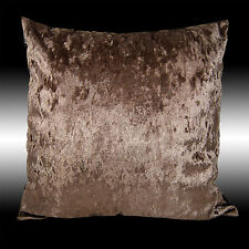 SHINY SMOOTH PLAIN BRONZE THICK SOFT VELVET THROW PILLOW CASE CUSHION COVER 17""