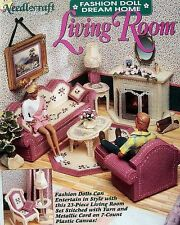 Plastic Canvas  Fashion Doll  Dream Living Room  Patterns  TNS