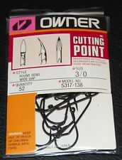 Owner 5317-138 60° Round Bend Wide Gap Jig Hooks - Size 3/0 Pro Pack of 52