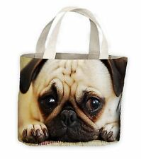 Pug Dog Face Tote Shopping Bag For Life - Pugs Dogs