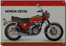 HONDA CB750 MOTORCYCLE METAL SIGN.(A3 SIZE) VINTAGE FOUR CYLINDER MOTORCYCLE.