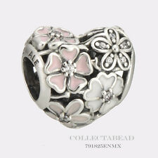 Authentic Pandora Sterling Silver Enamel Poetic Blooms Clear CZ Bead 791825ENMX