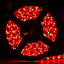 SUPERNIGHT™ Red Waterproof 5050 SMD 60LED/M 300LED 5M Light Strip Black PCB