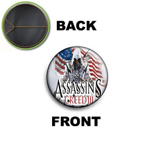 PIN SPILLA 2,5 CM 25 MM ASSASSIN'S CREED III CONNOR KENWAY PS3 XBOX PC  4