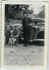 PHOTO ANCIENNE - VOITURE CITROËN TRACTION CHIEN - CAR DOG - Vintage Snapshot