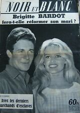BRIGITTE BARDOT en COUVERTURE de NOIR et BLANC No 768 de 1959 CHARRIER ARMEE