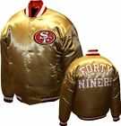 NFL MEN'S SAN FRANCISCO 49ers FORTY NINERS GOLD SATIN MEMORABILIA JACKET NEW WOW