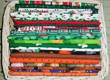 Cotton Fabric Remnant  Stash Pack - 2.5 Lbs-Holiday Xmas Halloween St Pats