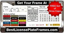 CUSTOM PERSONALIZED LASER ENGRAVED METAL LICENSE PLATE FRAME