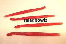 TUPPERWARE New CITRUS PEELER in STARLIGHT CHILI RED, 4 peelers They sPaRkLe!