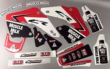 Factory Muscle Milk Honda Graphics CR125 CR250 2000 2001 CR 125 CR 250
