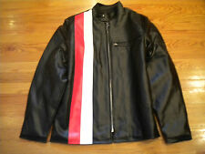 NOS Vintage 1970's Cafe Racer Jacket - Ducati Norton Triumph Red and White