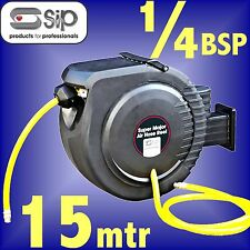 SIP 07974 Pro 15 Metre Retractable Air Hose Reel airline compressor tool line