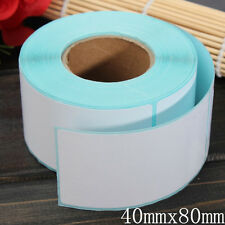 350PCS 40x80mm Printing Label Barcodes Number Thermal Adhesive Paper Sticker