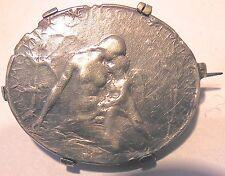 """Rare petite médaille d'Oscar ROTY - """" l'amour console l'humanité """" - argent"""