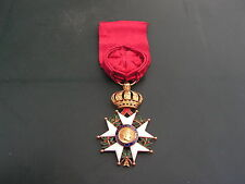 superbe   medaille  legion d'honneur  second empire en or