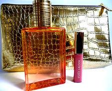 ESTEE LAUDER Bronze Goddess Gift Set*Eau Fraiche*Lip Gloss*Gold Bag*NW*Pink