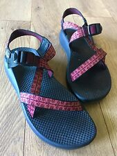 Women's CHACO hiking sandals size W 10 pink burgundy tribal Chacos Made In USA