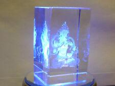 cristalloterapia CRISTALLO Vajrasattva BUDDHA BASE LED COLORE statua oriente