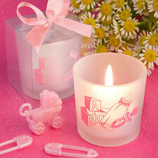 30 Baby Girl Votive Candle Baby Shower Christening Event Party Favor Bulk Lot