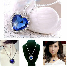 New Swarovski Crystal Heart of the Ocean Necklace Blue Sapphire Pendant New SM