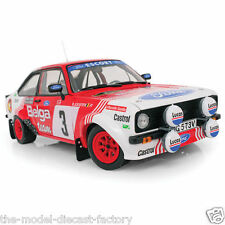 FORD ESCORT MKII RALLY NO-3 RED BELGA WRC 1:18 DIECAST MODEL BOXED RARE ITEM