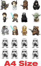 Starwars Character Sticker A4 Page Darth Vader phone book ipad Decoration Bumper