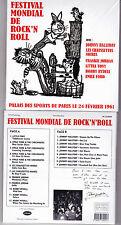 CD JOHNNY HALLYDAY ALBUM FESTIVAL MONDIAL DE ROCK'N'ROLL 24 FEVRIER 1961 NEUF