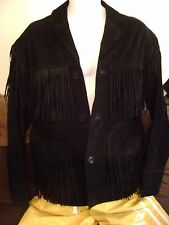 MENS SUEDE FRINGE LEATHER JACKET-Large  Classic Rock Hippie or Western Jacket