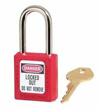 Master Lock Keyed Different Safety Lockout Tagout Padlock Red Electrician Plumbe