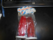 NOS Biemme Grips 22/24 100mm Red w/ White Waffle Made In Italy Vespa