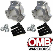 "(2) 1"" Billet Aluminum Rear Wheel Hubs + Hardware Go Kart Mini Bike Drift Trike"