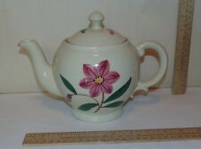 Floral Tea Pot or Ceramic Tea Pot with Flower pattern - marked USA