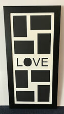 """Large """"Love"""" photo picture frame holds eight 6x4 inch photo's"""