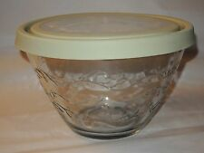 Princess House Fantasia Clear 3 Quart Store & More Bowl with Lid Made in USA