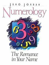 Numerology: The Romance in Your Name, Dr. Juno Jordan, Good Condition, Book
