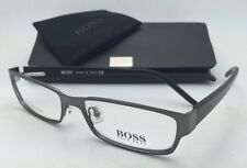 New HUGO BOSS Eyeglasses 0036/U 0V81 54-16 Dark Ruthenium & Black Frames w/Clear