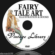 850 FAIRY TALE ILLUSTRTAIONS & 88 PDF BOOKS ON DVD image trolls print painting
