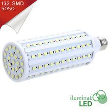 Bombilla LED E27 132 SMD 5050 360º Blanco Puro 220V - Únicamente 23W.