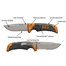 "GERBER BEAR GRYLLS SURVIVAL SCOUT FOLDING KNIFE POCKET CLIP 4"" LOCKBACK NO BOX"