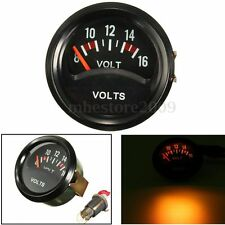 52mm 2'' Car Mechanical Volt Voltmeter Voltage Meter Gauge 8~16V Black Face 12V