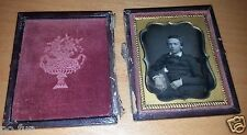 Rare Pre-Civil War Era Ninth 1/9th PLATE DAGUERREOTYPE 1/9 E. T. WHITNEY ROCH NY