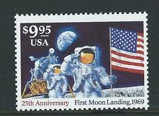 UNITED STATES 1994 25th ANNIVERSARY OF MOON LANDING $9.95 UNMOUNTED MINT, MNH