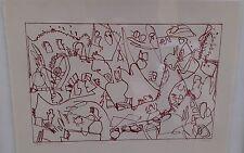 Jan Voss : Lithographie Originale Signée et Numérotée au crayon. Encadrée.