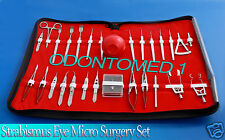 27 PC O.R GRADE STRABISMUS OPHTHALMIC EYE MICRO SURGERY SURGICAL INSTRUMENTS KIT