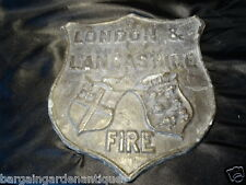 Vintage Solid Cast Iron London & Lancashire Fire Wall Hanging Plaque