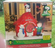 VIDEO Gemmy Inflatable Airblown Christmas Peanut Snoopy Sno Snow Cone Machine
