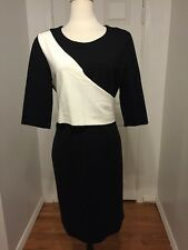 NWT Black and White DKNY Work Dress Size 14