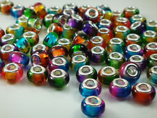 50pcs mix DIY bead lampwork fit European Charm Bracelet Wholesale beads m6